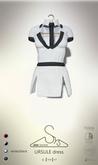 [sYs] URSULE dress (body mesh) - white/black GIFT <3