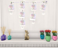 {ACD} Polaroid String Lights With Heart Clips