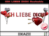 ICH LIEBE DICH SCULPTED TEXT VALENTINE GIFT - RED RESIZABLE