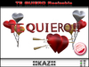 TE QUIERO SCULPTED TEXT RED RESIZABLE ::KAZ:: / Emotion Triggering Gifts/Birthday Gift love gift