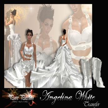 Angelina White Gala Dress TRANSFER (boxed)
