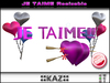 JE TAIME SCULPTED TEXT VALENTINE GIFT - PINK RESIZABLE