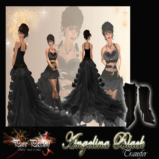 Angelina Black Gala Dress TRANSFER (boxed)