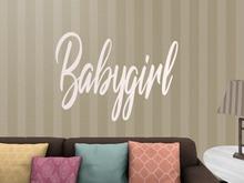 {PLT}Babygirl-White WALL DECAL