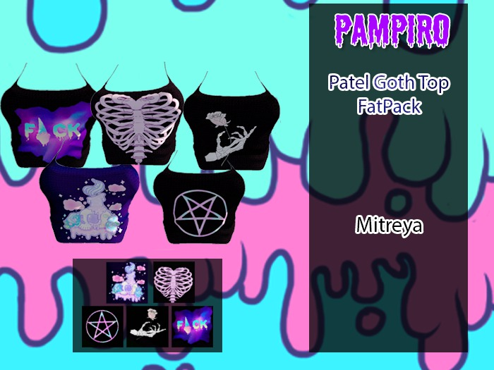 Pastel Goth top Fat pack
