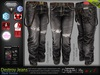 Destroy Male Black Denim Ripped Jeans Pants - Mesh - TMP, Adam,Slink,Aesthetic,Signature Gianni -Geralt,Belleza Jake