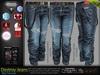 Destroy Male Blue Denim Ripped Jeans Pants - Mesh - TMP, Adam,Slink,Aesthetic,Signature Gianni -Geralt,Belleza Jake