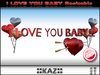 I LOVE YOU BABY SCULPTED TEXT VALENTINE GIFT - RED RESIZABLE
