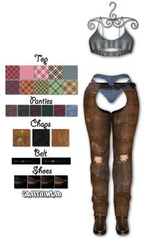 Graffitiwear Group 1 Women's Chaps Outfit (add)