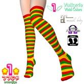 *1* Rasta Tricolour Multi-Striped Oveknee