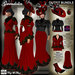 C&F Gwendolin 2 Belle Epoque Outfit BUNDLE - Red/Black  - Mesh, Fitmesh & Mesh Body sizes