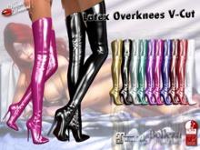 -VD- Latex Overknees V-Cut Fatpack