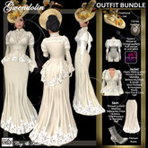 C&F Gwendolin 2 Belle Epoque Outfit BUNDLE- Ivory - Mesh, Fitmesh & Mesh Body sizes