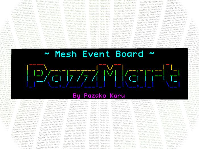 Mesh Event Board w/ Title