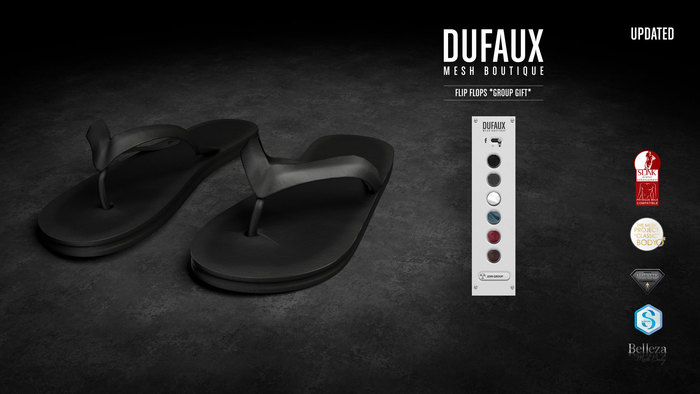 DUFAUX GIFT - flip flops - group gift *updated*