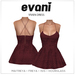 EVANI - Vivien dress [Maroon]