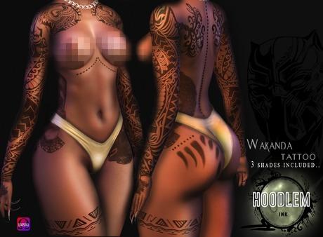 Hoodlem - For Wakanda Tattoo ( LEGACY / OMEGA )