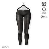 "alaskametro<3 ""Lyra"" leggings 01 black pleather | Appliers: Omega/Maitreya + Classic avatar layers"