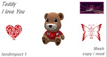 "Teddy ""I love You"" mesh E-BOX"