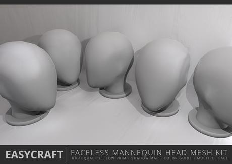 EASYCRAFT - Full Perm Faceless Mannequin Head