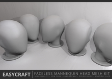EASYCRAFT - Faceless Mannequin Head