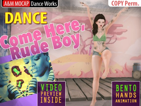 A&M: Come Here, Rude Boy - dance animation (Bento hands) :: #TAGS - Rihanna, pop, rnb, ragga, reggae, reggaeton