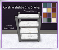 Coraline Shabby Chic Shelves ( Primary  Colors )