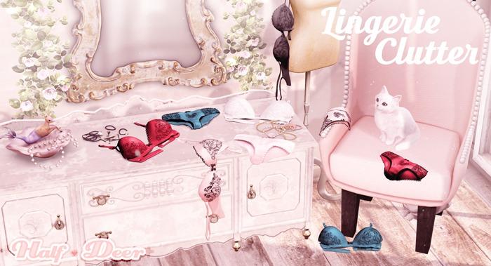 +Half-Deer+ Lingerie Clutter