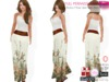 Full Perm Boho Maxi Skirt with Belt For Ocacin, Slink, Maitreya, Belleza, Tonic, Ebody, TMP, Fitmesh