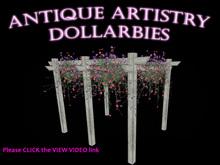 DOLLARBIE Mesh Arbor  Petunias Vine- Weathered-25 colors -  2LI