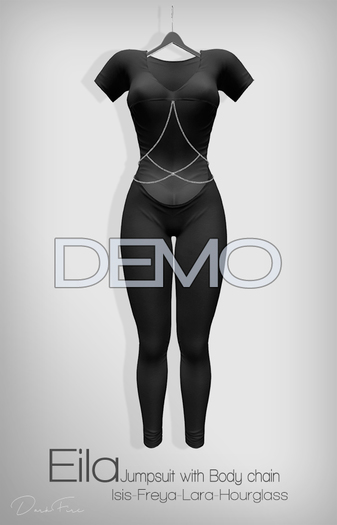 DarkFire-Eila Jumpsuit w/ Body Chain DEMO