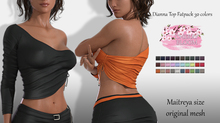 Diana EXCLUSIVE Female  Top Mesh- MAITREYA LARA - FATPACK 30 Color HUD CB collection