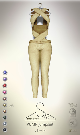[sYs] PUMP jumpsuit (body mesh) - gold GIFT <3