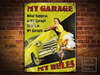 MY GARAGE MY RULES Retro Pin Up Metal Sign POSTER