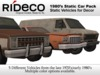 RiDECO - 1980's Static Car Pack