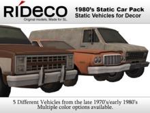 RiDECO - 1980's Static Car Pack