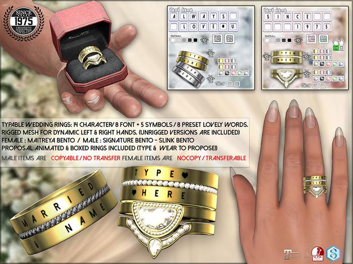 [Since1975] Typable Wedding Rings (Rez&Open Me!)