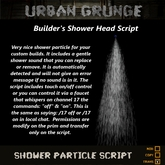 Shower Head Script for Builders