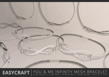 EasyCraft - Full Perm You & Me Infinity Bracelet