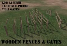 Wooden Fence Kit with Gates