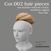 *booN Cor.002 hair pieces brown pack