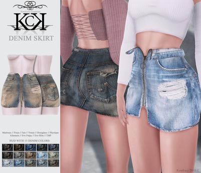 :::KC::: Denim Skirt