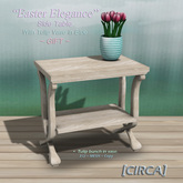 "[CIRCA] - ""Easter Elegance"" Side Table w/ Tulip Vase (GIFT)"