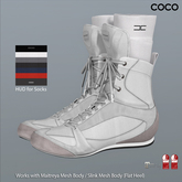 *COCO*_BoxingShoes+Socks_White