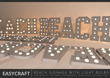 EASYCRAFT - BEACH Signage with Light Bulbs