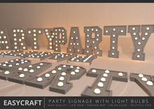 EASYCRAFT - PARTY Signage with Light Bulbs
