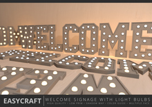 EASYCRAFT - Full Perm WELCOME Signage with Light Bulbs