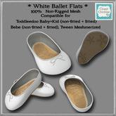 *CC* White Ballet Flats Non-Rigged {TD b+k, Bebe, Meshmerized}