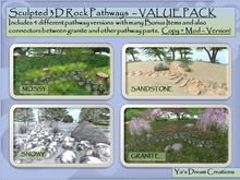 *Ya's* 3D Rock Pathways - VALUE PACK ( BOX)