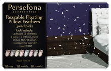 Persefona Floating Pillow Feathers  - Rezzable (special edition